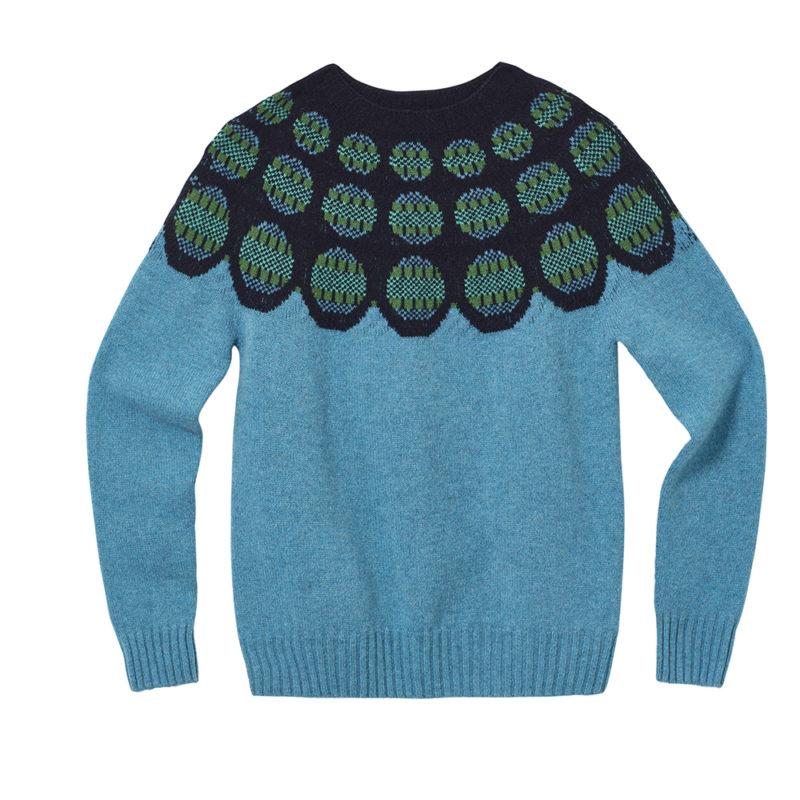 Garland Yoke Sweater - Blue - Donna Wilson