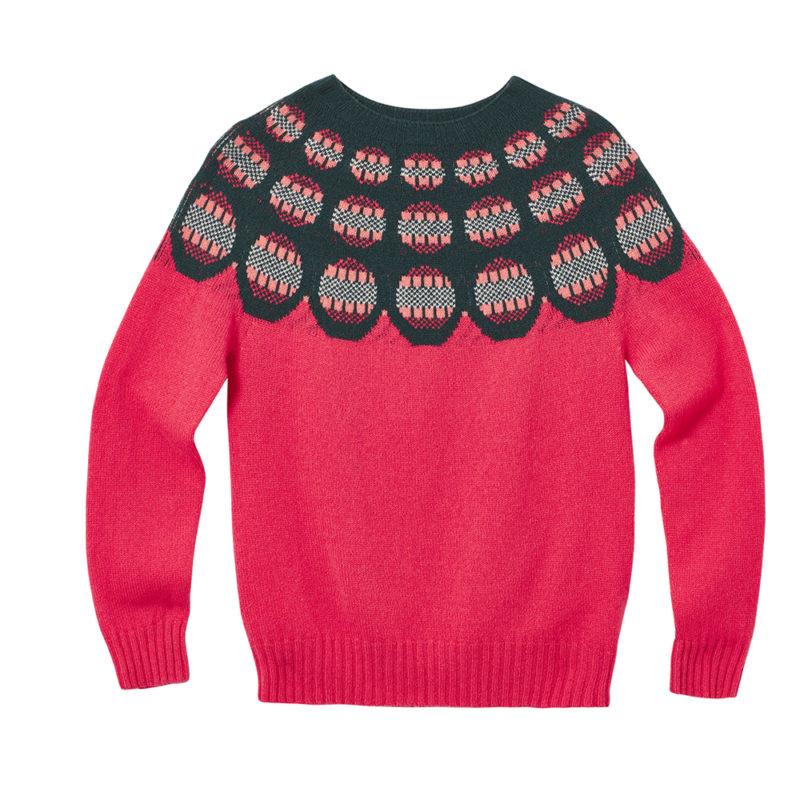Garland Yoke Sweater - Pink - Donna Wilson