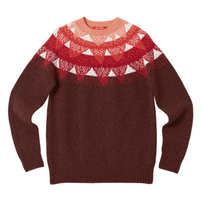 Mountain Peak Sweater - Red by Donna Wilson