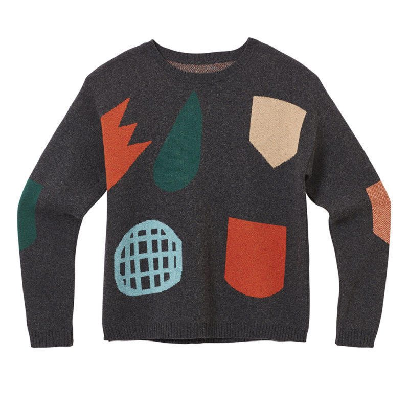 Pick 'n' Mix Sweater - Charcoal - Front - Donna Wilson