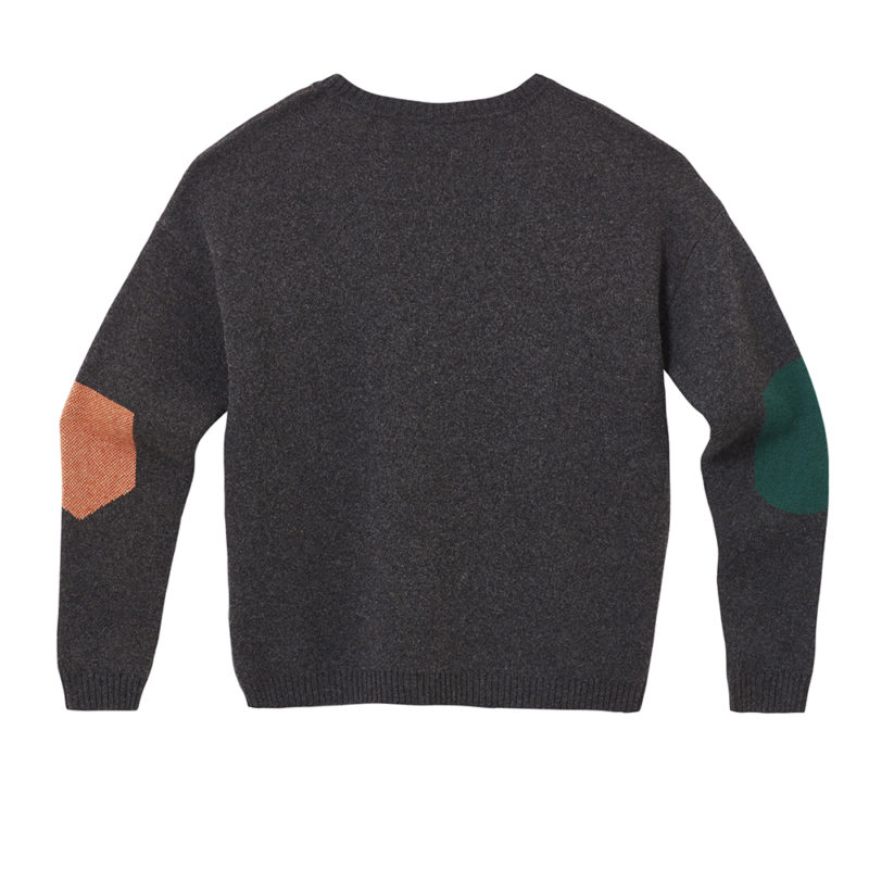 Pick 'n' Mix Sweater - Charcoal - Back - Donna Wilson
