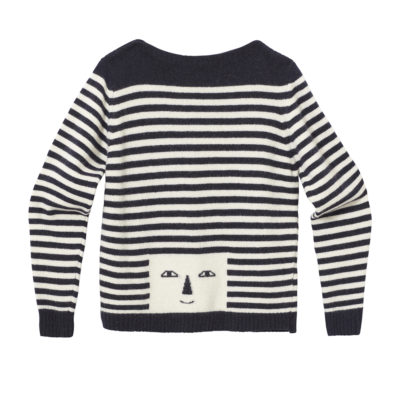 Stripy Head Sweater - Navy & White - Donna Wilson