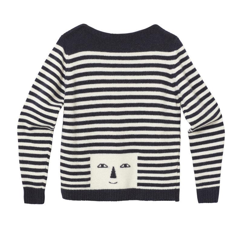 Stripy Head Sweater - Navy & White - Donna Wilson