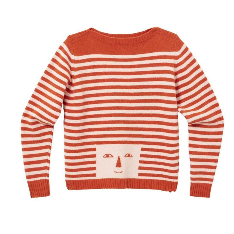 Stripy Head Sweater - Pink & Rust - Donna Wilson