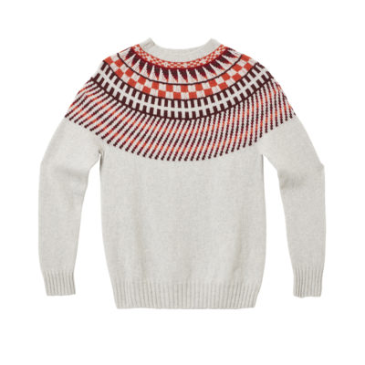 Sunburst Yoke Sweater - Light Grey by Donna Wilson