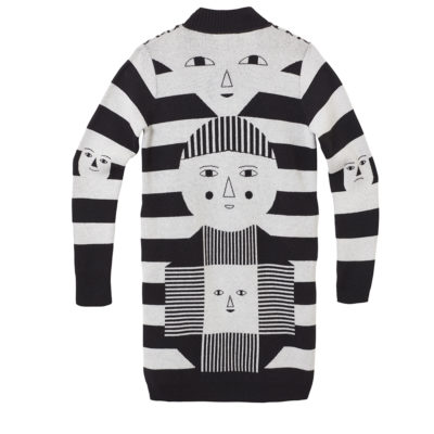Sweaters - Totem Cardigan - Black White - Reverse