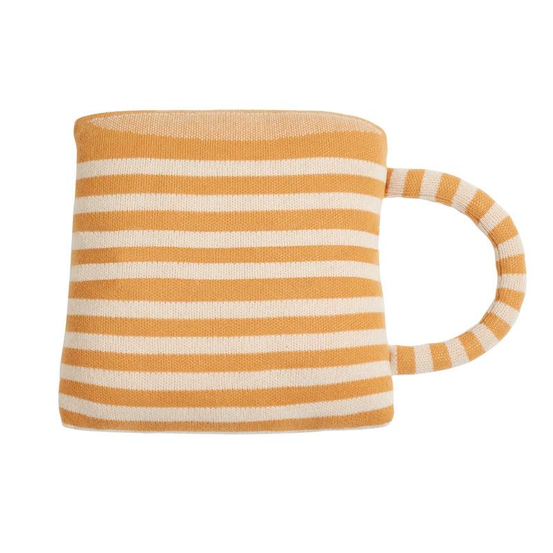 Tea Cup Shaped Cushion - Reverse - Donna Wilson