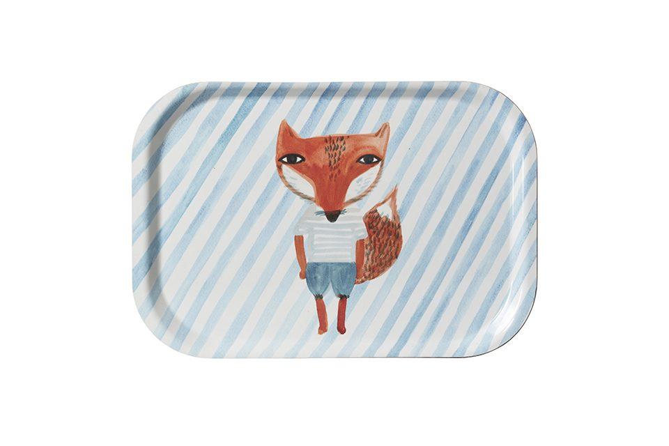Tea Tray - Fox Stripe Mini