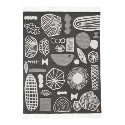 Throws - Forager Throw Black - Back - Donna Wilson