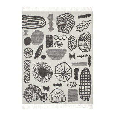 Throws - Forager Throw Black - Front - Donna Wilson