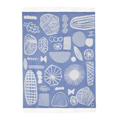 Throws - Forager Throw Blue - Back - Donna Wilson