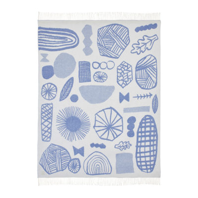 Throws - Forager Throw Blue - Front - Donna Wilson