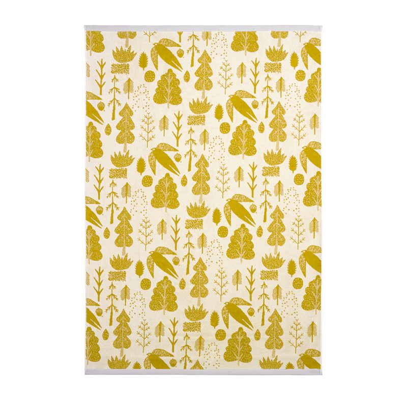 Donna Wilson - Bird & Tree Bath Sheet - Mustard