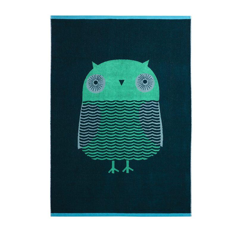 Donna Wilson - Owl Bath Sheet - Green