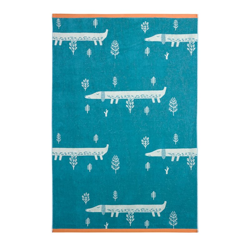 Donna Wilson - Sausage Dog Bath Sheet - Blue