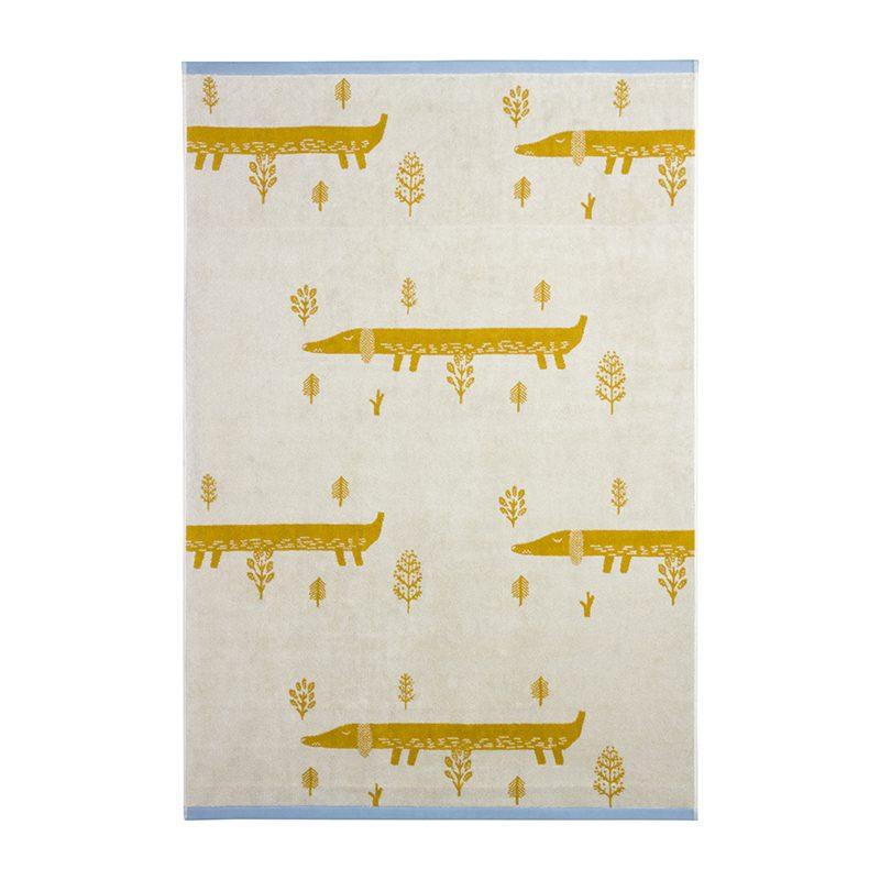 Donna Wilson - Sausage Dog Bath Sheet - Mustard