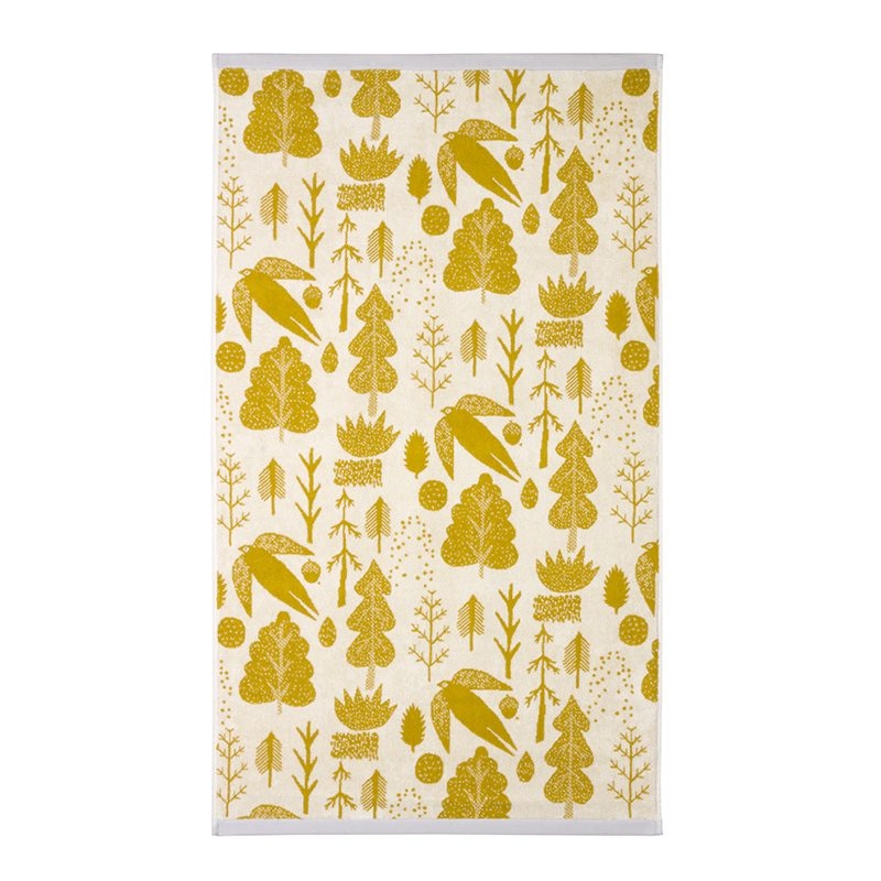 Donna Wilson - Bird & Tree Bath Towel - Mustard