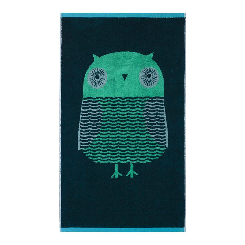 Donna Wilson - Owl Bath Towel - Green