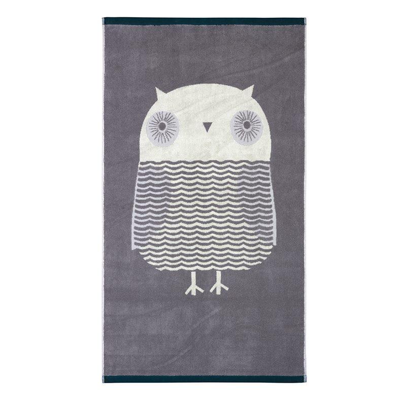 Donna Wilson - Owl Bath Towel- Grey
