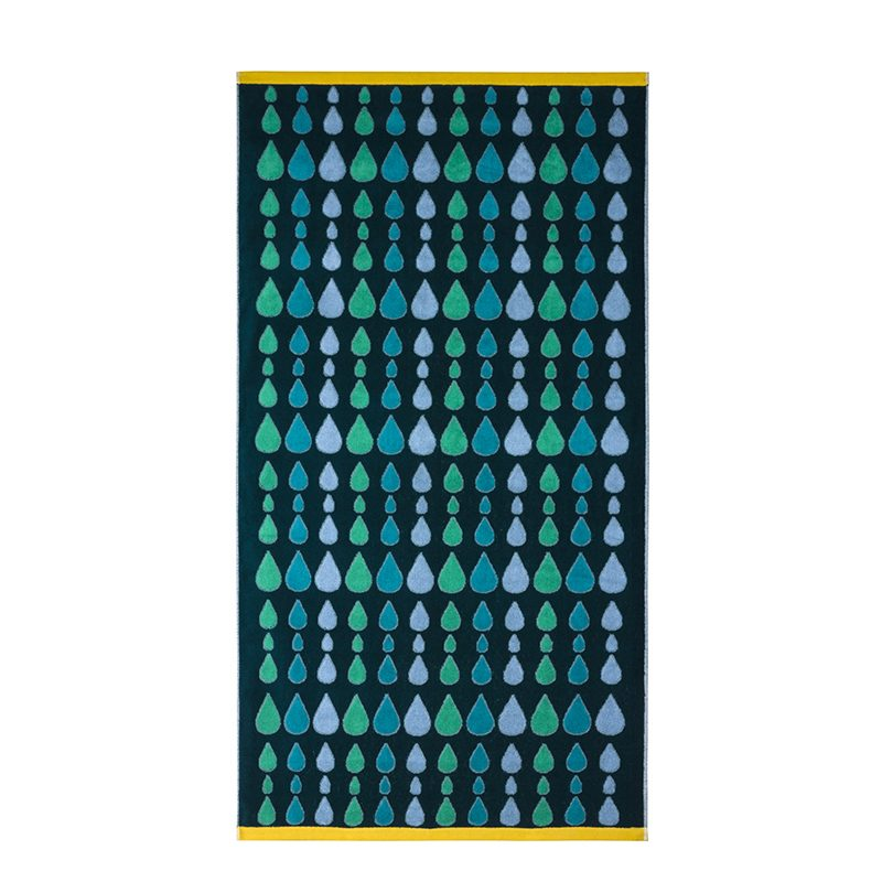 Donna Wilson - Rain Drops Bath Towel - Green
