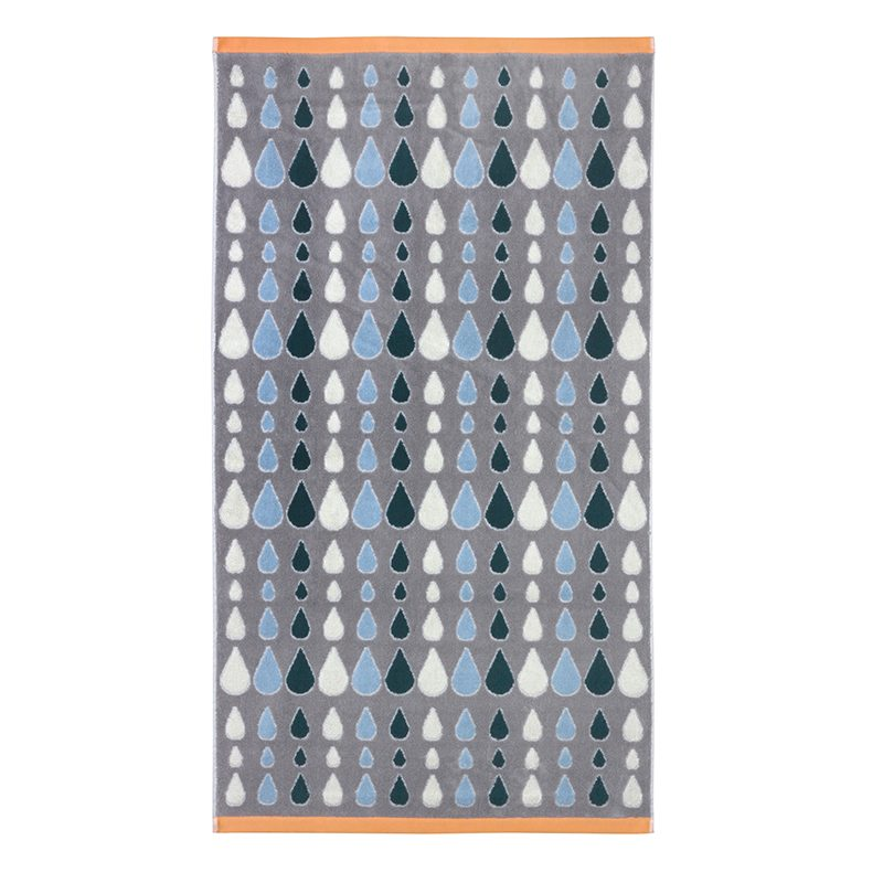 Donna Wilson - Rain Drops Bath Towel - Grey