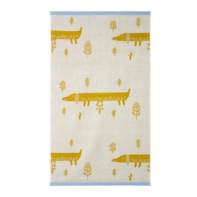 Donna Wilson - Sausage Dog Bath Towel - Mustard
