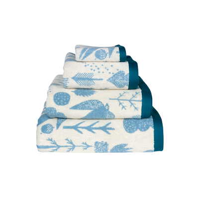 Towels Bird and Tree Towel Set Cream