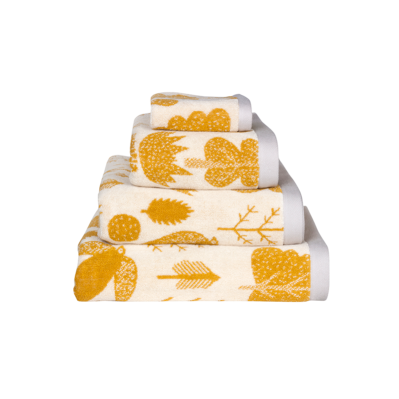 Donna Wilson Bird & Tree Towel Set Mustard