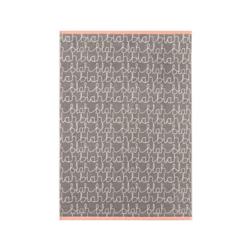 Donna Wilson - Blah Blah Bath Sheet - Grey