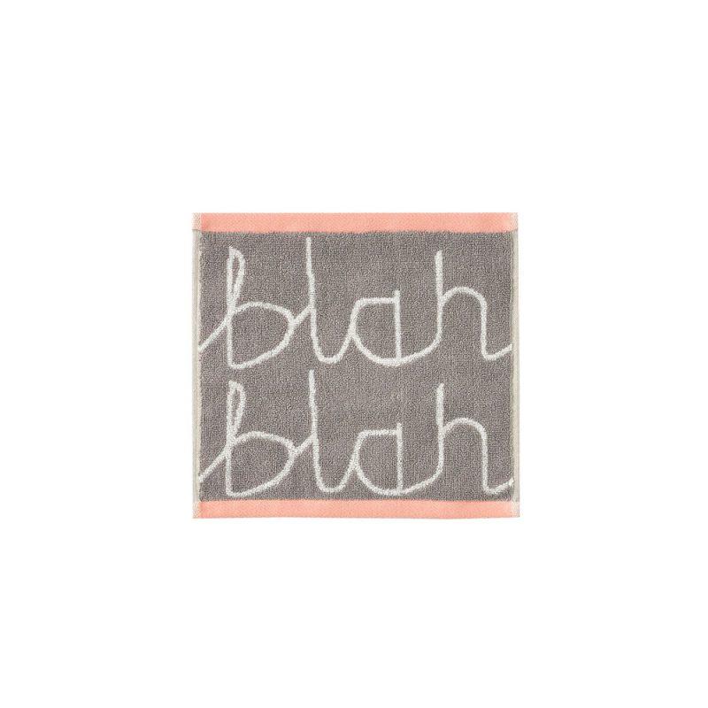 Donna Wilson - Blah Blah Face Towel - Grey