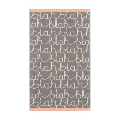Donna Wilson - Blah Blah Hand Towel - Grey