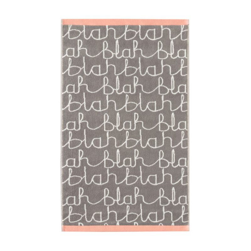 Donna Wilson - Blah Blah Hand Towel - Grey