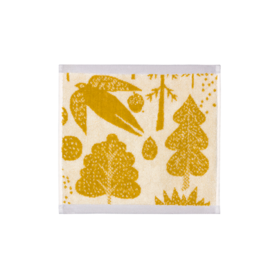 Donna Wilson Bird and Tree Face Towel Mustard