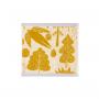Donna Wilson Bird and Tree Face Towel Mustard
