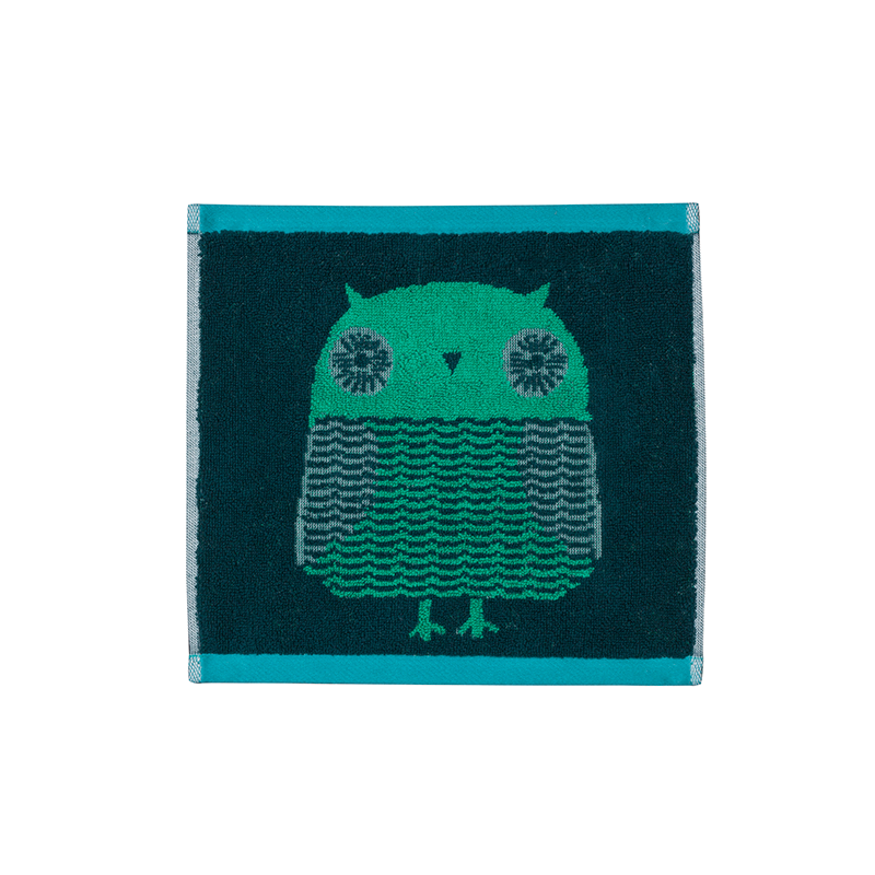 Donna Wilson Owl Face Towel Green