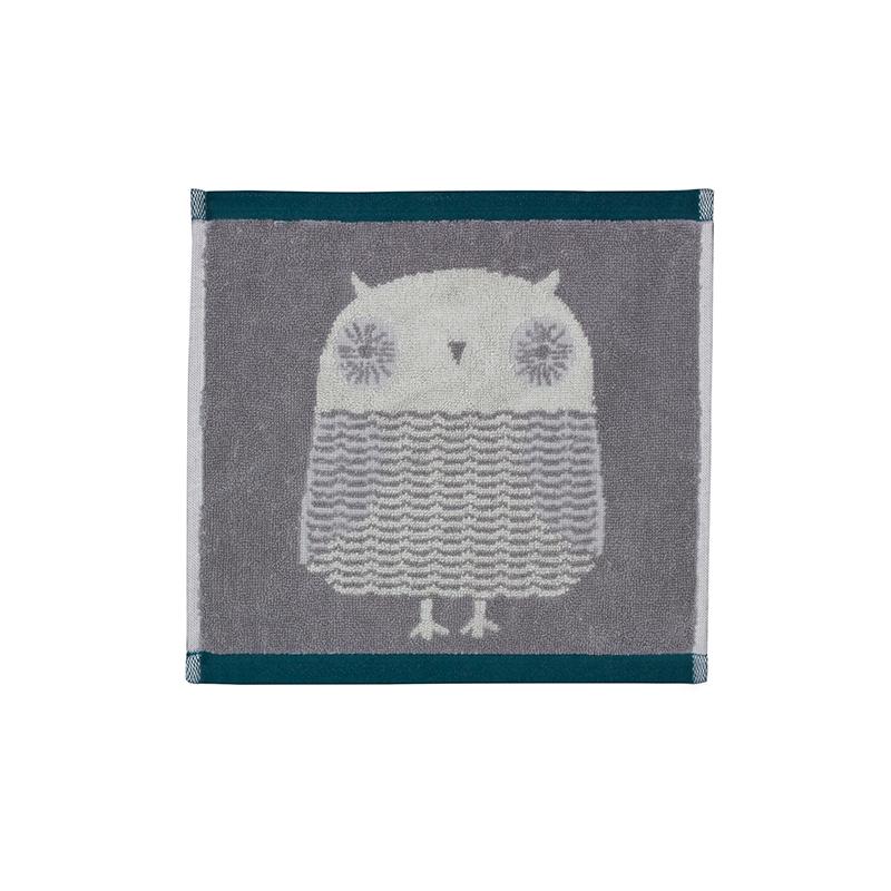 Donna Wilson Owl Face Towel Grey