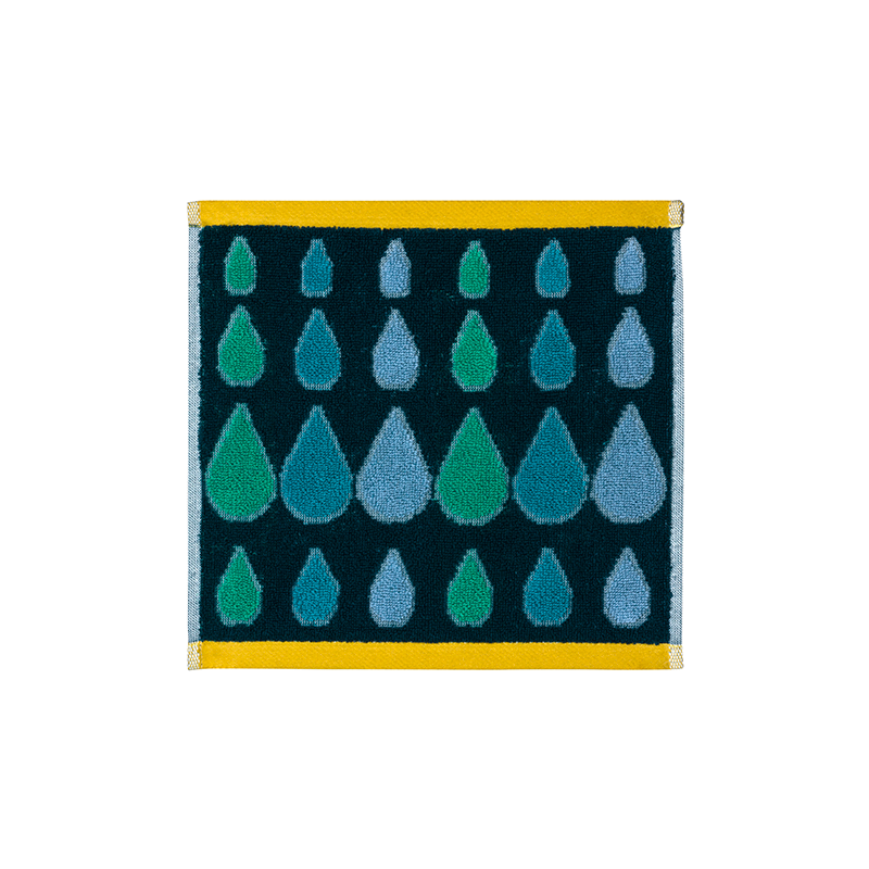 Donna Wilson Rain Drops Face Towel Green