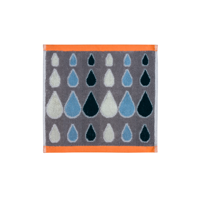 Donna Wilson Rain Drops Face Towel Grey
