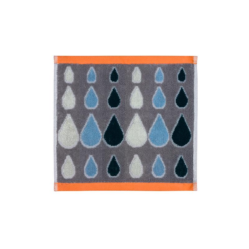 Donna Wilson Rain Drops Face Towel Grey