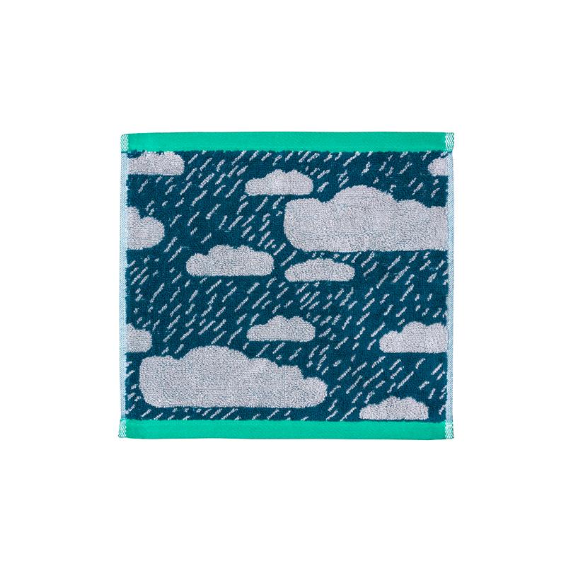 Donna Wilson Rainy Day Face Towel Green