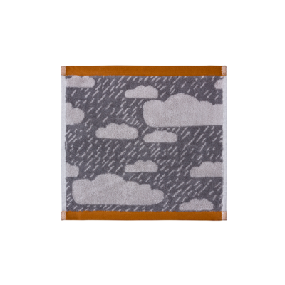 Donna Wilson Rainy Day Face Towel Grey