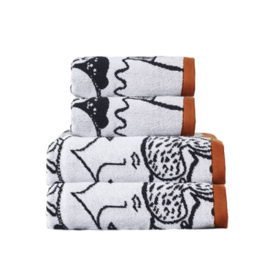 Folk Towel Set - 2 x Hand, 2 x Bath - Donna Wilson