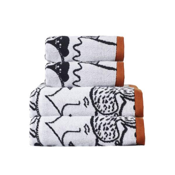 Folk Towel Set - 2 x Hand, 2 x Bath - Donna Wilson