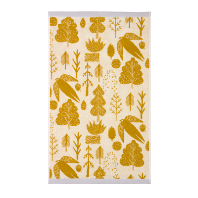 Donna Wilson Bird & Tree Towels Mustard