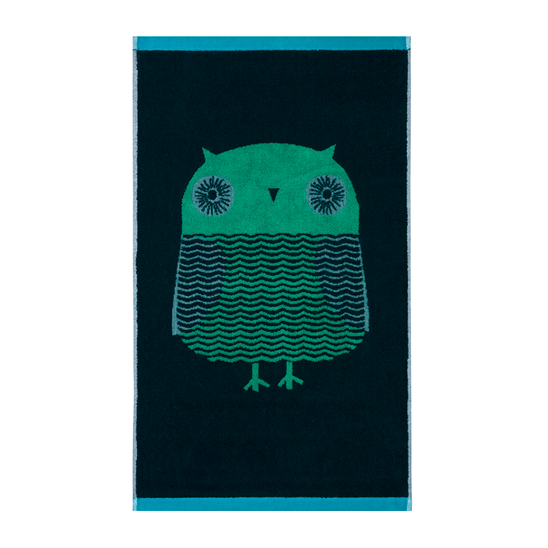 Donna Wilson Towels Owl Green