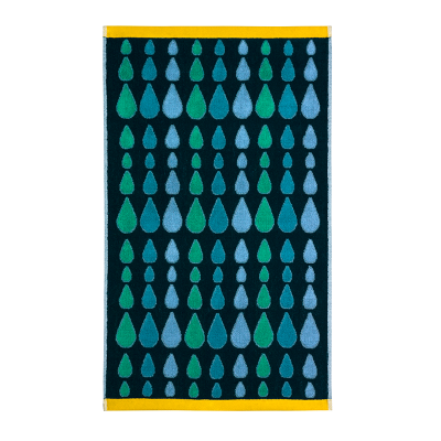 Donna Wilson Rain Drops Towels Green