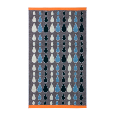 Donna Wilson Rain Drops Towels Grey
