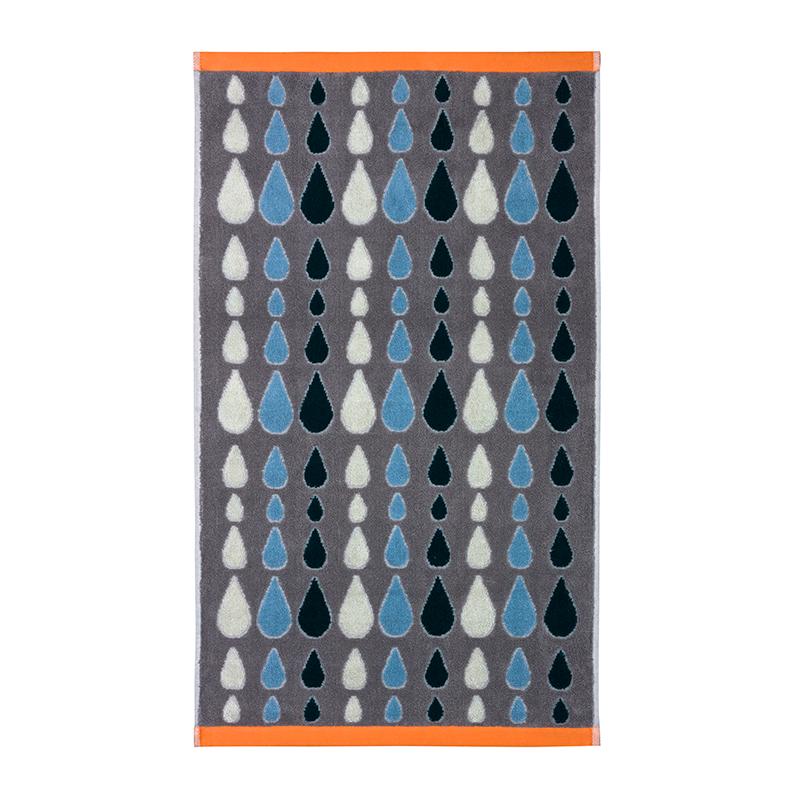 Donna Wilson Rain Drops Towels Grey