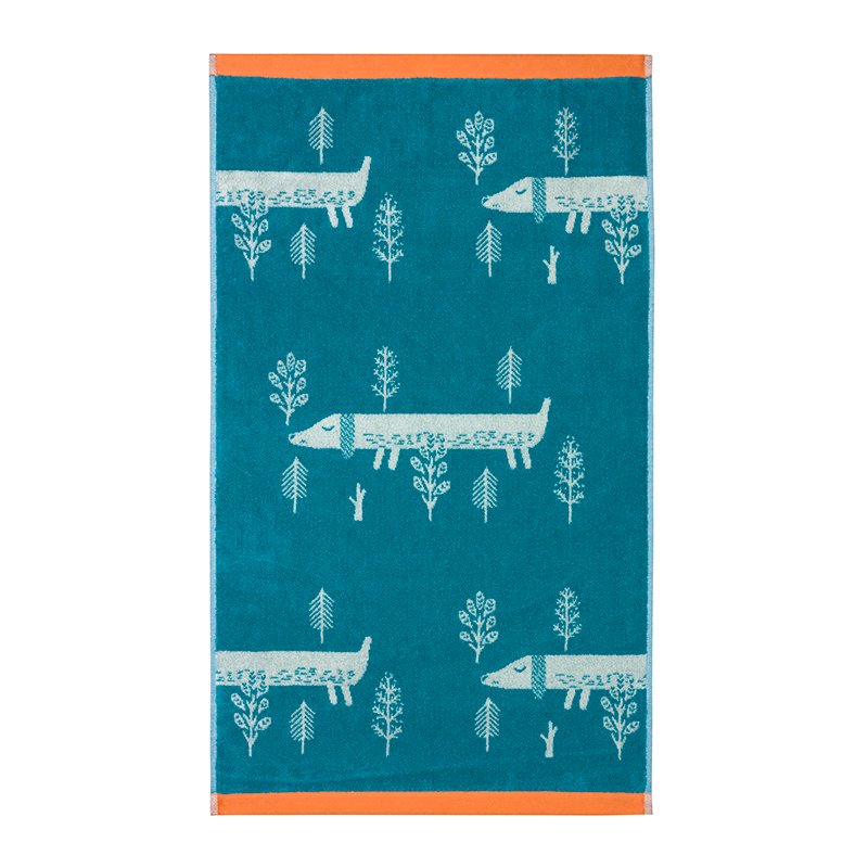 Donna Wilson Sausage Dog Towels Blue