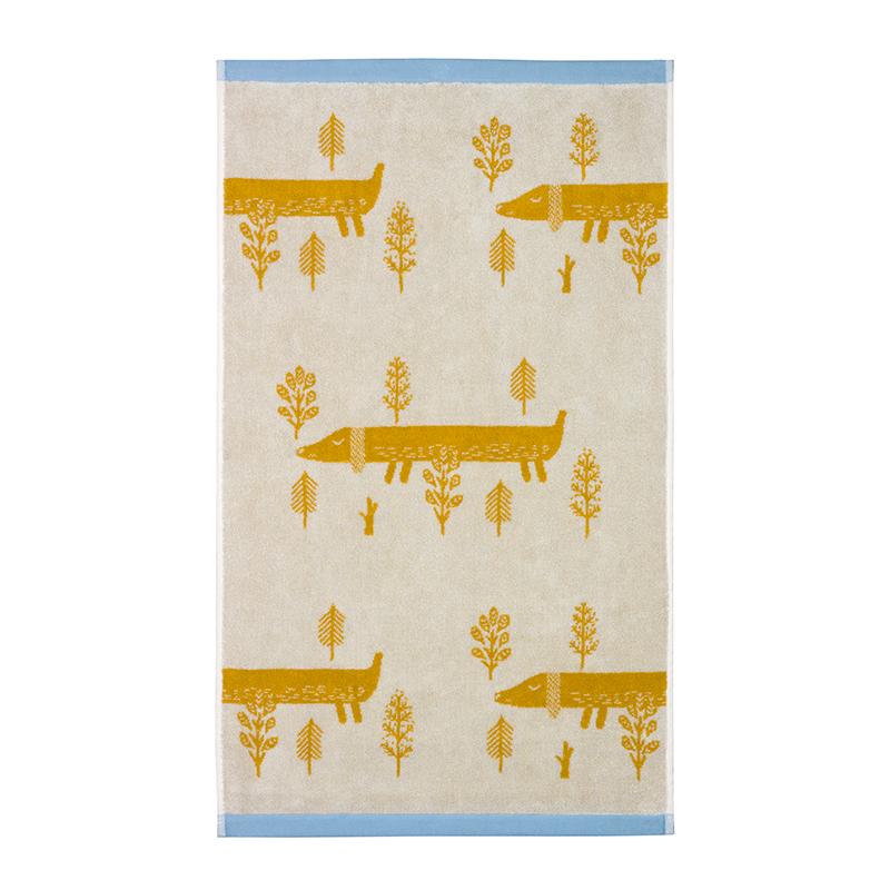Donna Wilson Sausage Dog Towels Mustard